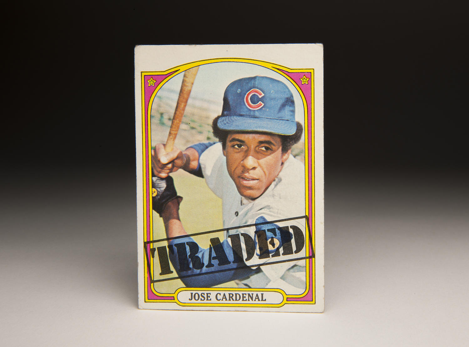 """In 1972, Topps issued a series of """"Traded"""" cards, which showed players who had recently been dealt, either during the winter or the spring, wearing the colors of their new teams. (Milo Stewart Jr. / National Baseball Hall of Fame)"""