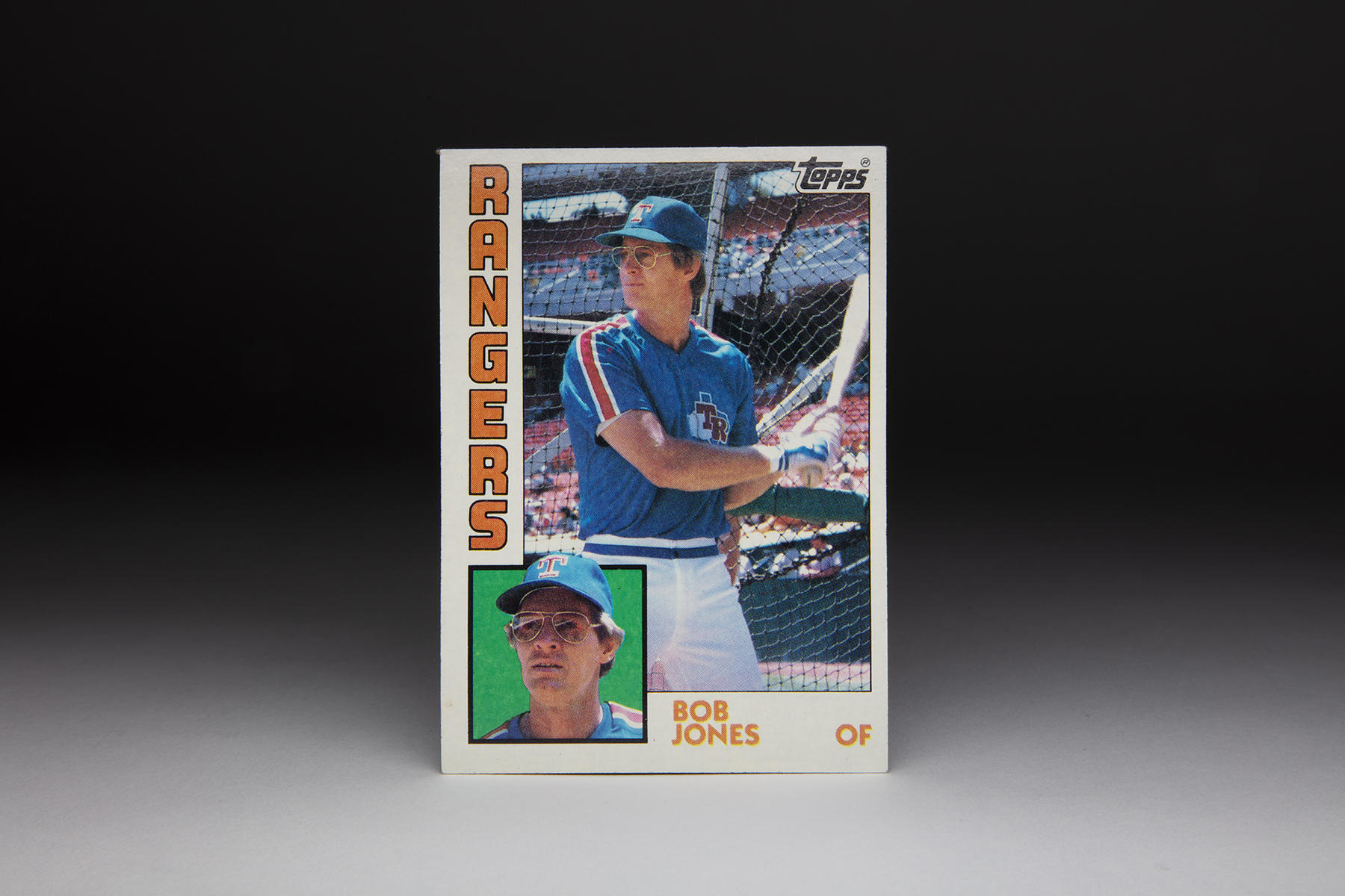 This 1984 Topps Bob Jones card features typical 1970s baseball attire for the era, but masks Jones' physical trauma. (Milo Stewart Jr./National Baseball Hall of Fame and Museum)