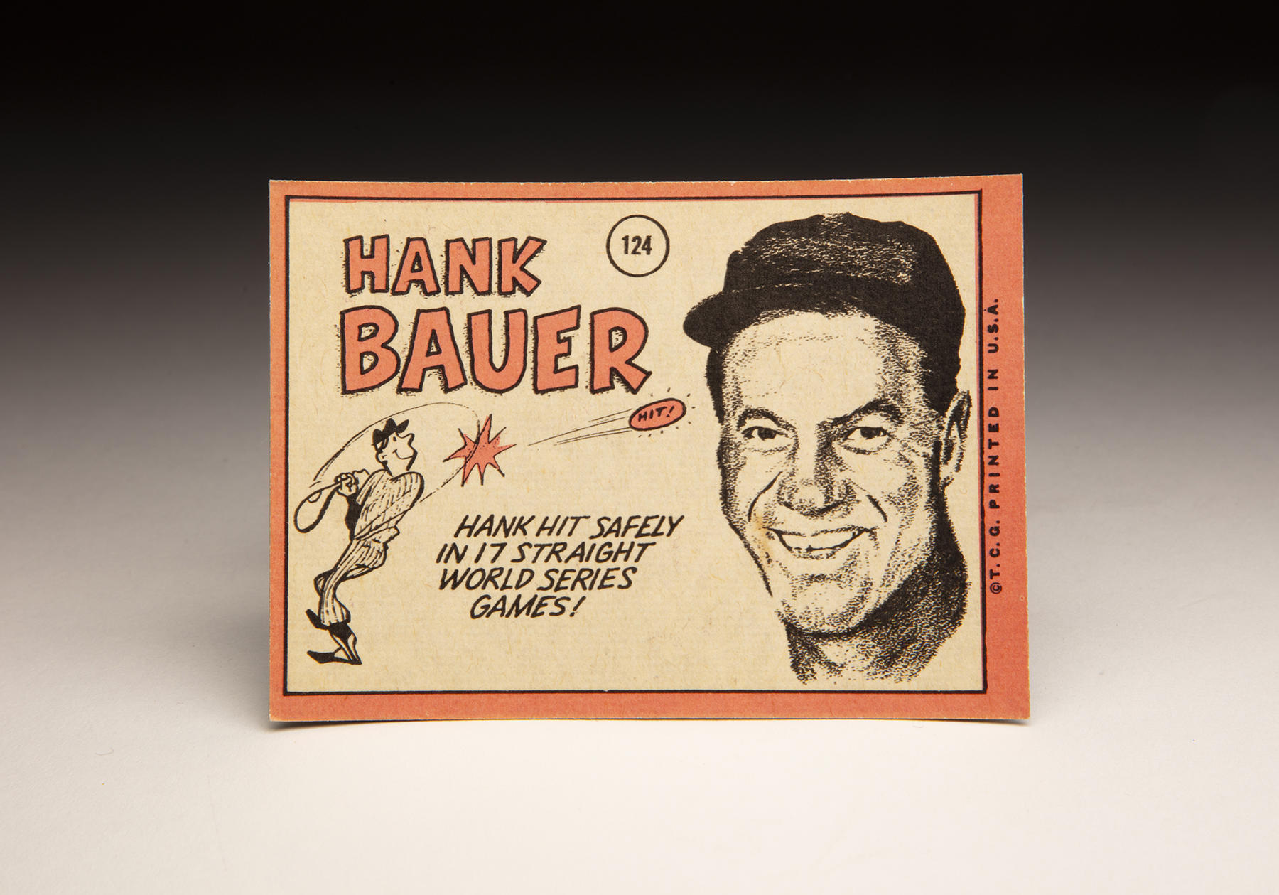 The reverse of Hank Bauer's 1969 Topps card. (Milo Stewart Jr./National Baseball Hall of Fame and Museum)
