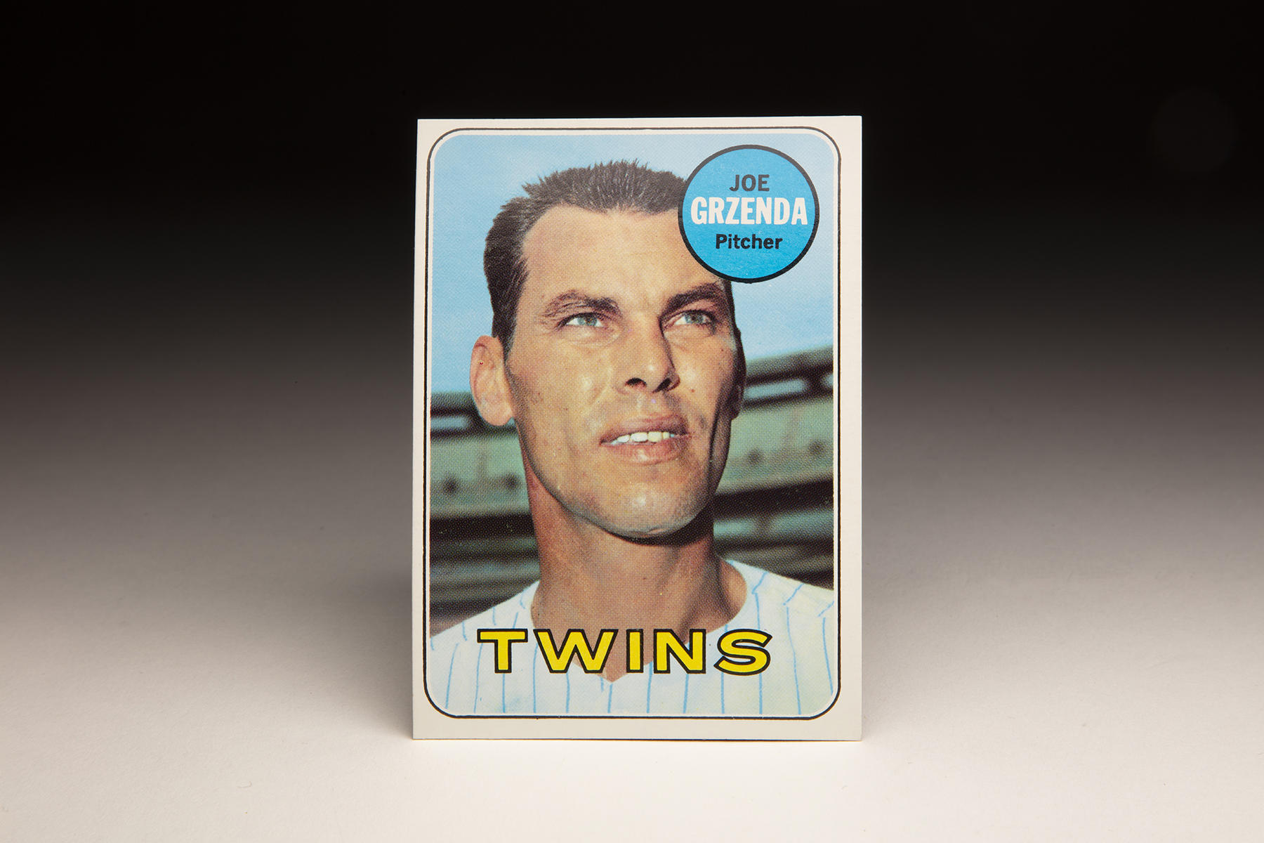 The front of Topps' 1969 Joe Grzenda card features the pitcher during his stint with the Twins. (Milo Stewart Jr./National Baseball Hall of Fame and Museum)
