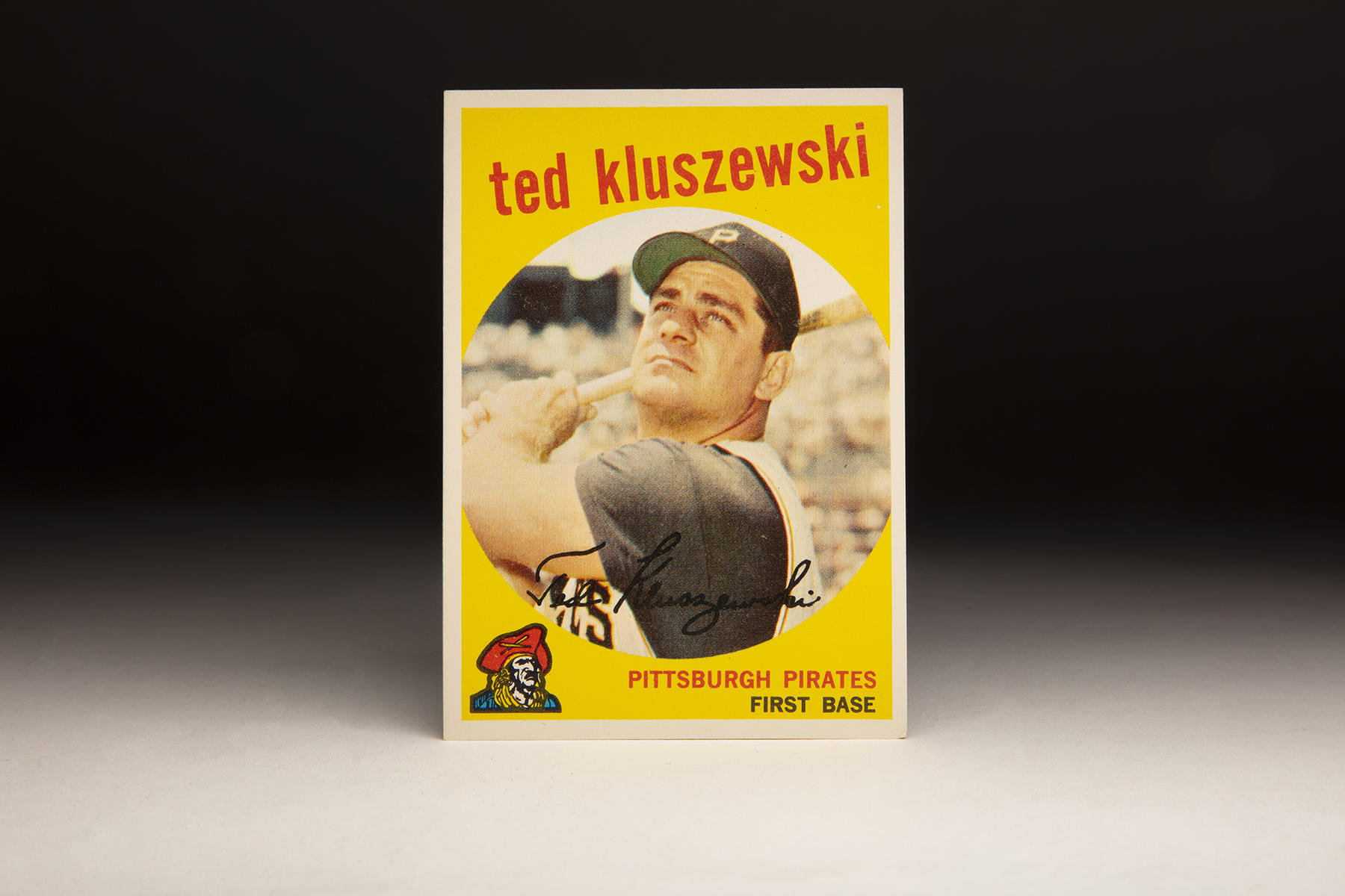 Ted Kluszewski's 1959 Topps card features the Pirates' distinct sleeveless vests of that era. (Milo Stewart Jr./National Baseball Hall of Fame and Museum)
