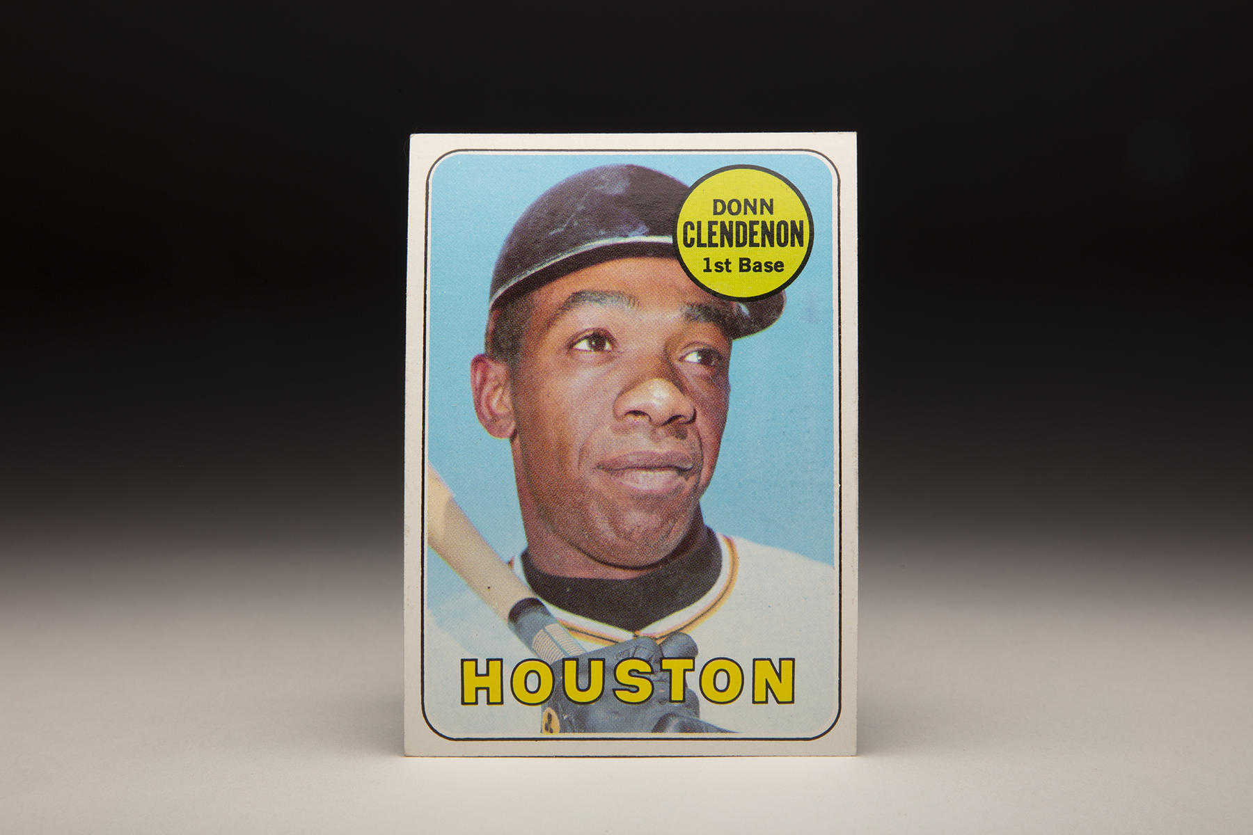Donn Clendenon appeared on two versions of 1969 Topps cards, including this one that places him with the Houston franchise. (Milo Stewart Jr./National Baseball Hall of Fame and Museum)