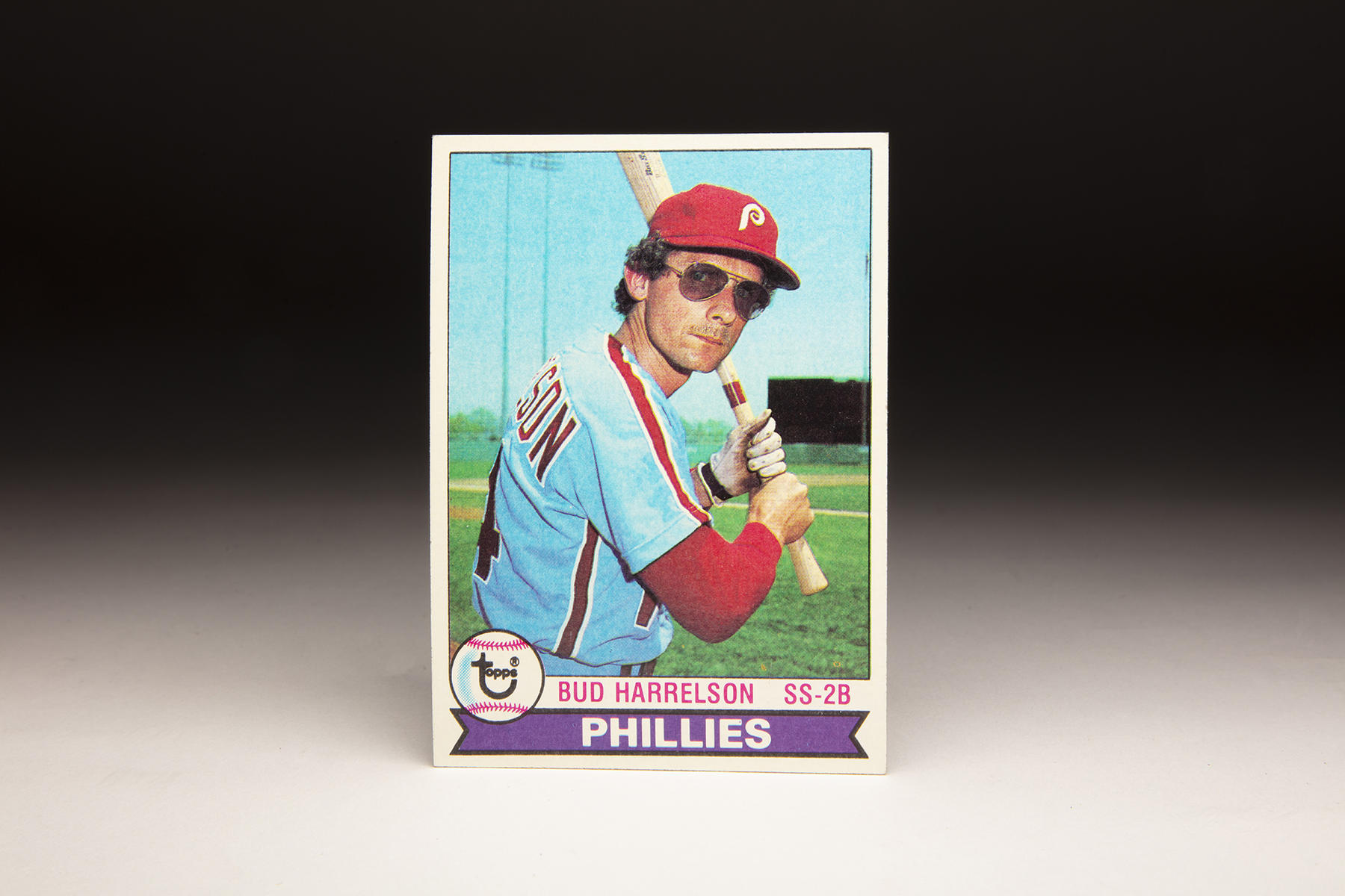 The front of Bud Harrelson's 1979 Topps card. (Milo Stewart Jr./National Baseball Hall of Fame and Museum)