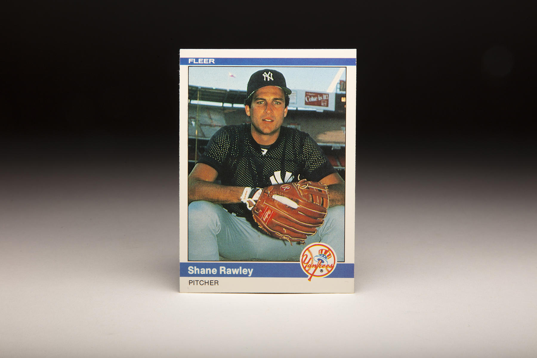 The front of Fleer's 1984 Shane Rawley card features Rawley during his stint with the Yankees. (Milo Stewart Jr.)
