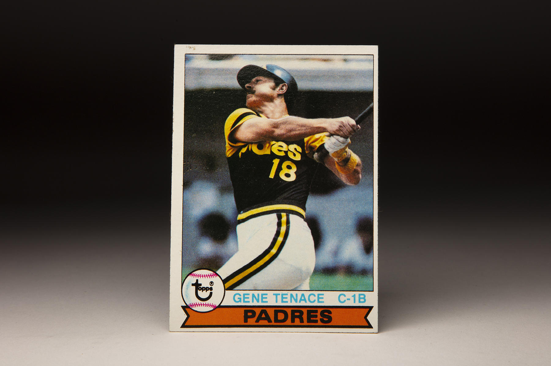 The front of Topps' 1979 Gene Tenace card. (Milo Stewart Jr./National Baseball Hall of Fame and Museum)