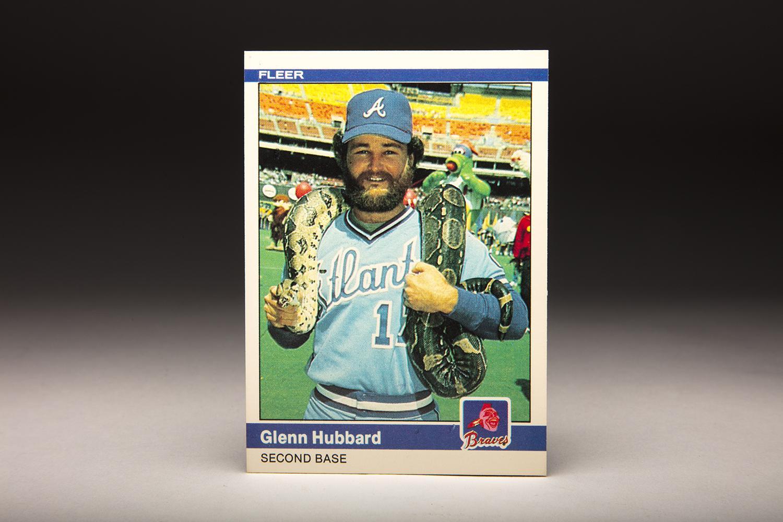 Cardcorner 1984 Fleer Glenn Hubbard Baseball Hall Of Fame