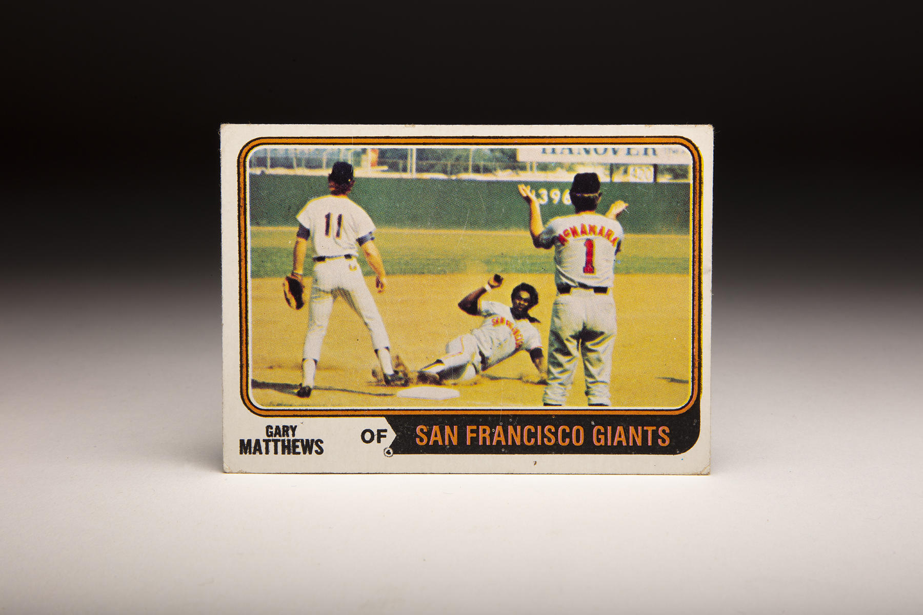 The front of Topps' 1974 Gary Matthews card. (Milo Stewart Jr./National Baseball Hall of Fame and Museum)