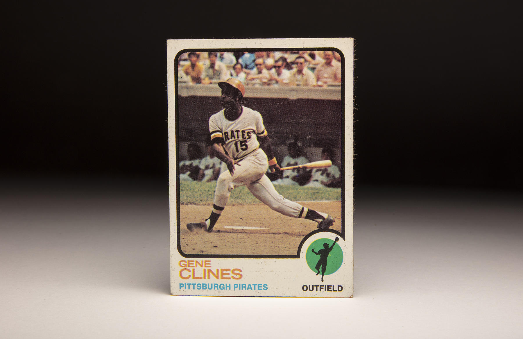 The front of Topps' 1973 Gene Clines card. (Milo Stewart Jr./National Baseball Hall of Fame and Museum)