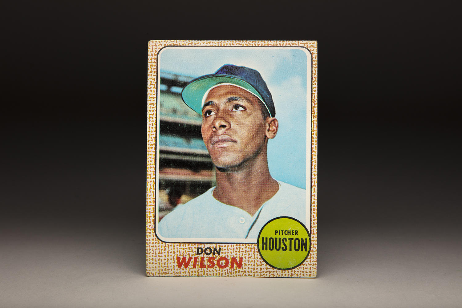 When Don Wilson's 1968 Topps card was taken, he was only 22-years old, with the promise of a long career. (By Photographer Milo Stewart Jr./National Baseball Hall of Fame and Museum)