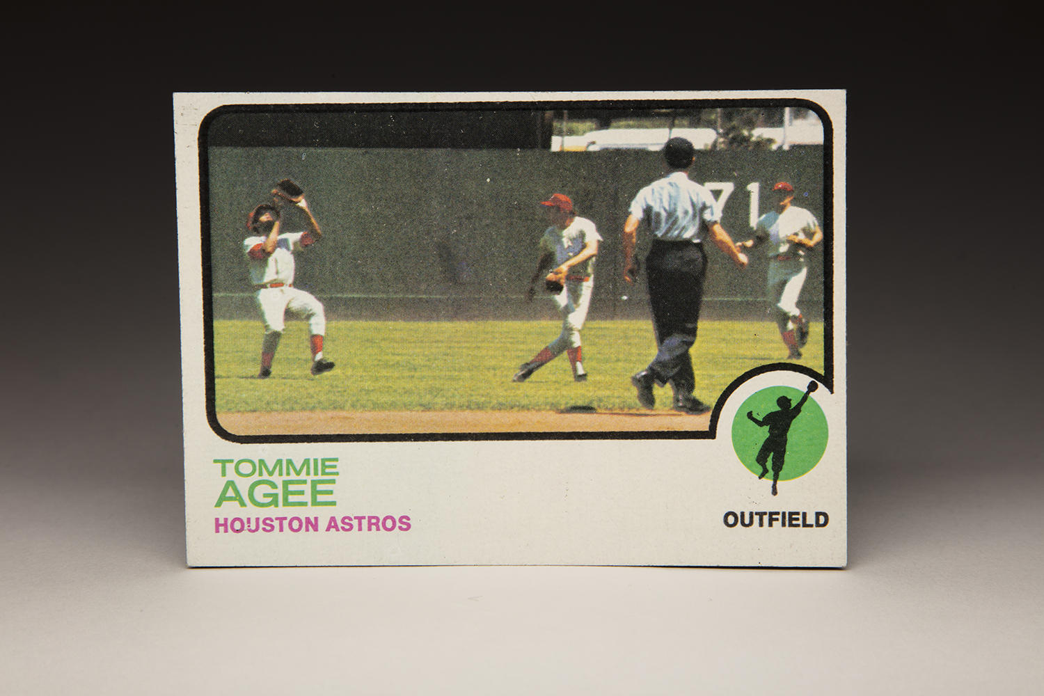In its 1973 set, Topps tried to include as many action shots as possible. An example of this is shown on Tommie Agee's 1973 Topps card, pictured above. (Milo Stewart Jr./National Baseball Hall of Fame and Museum)
