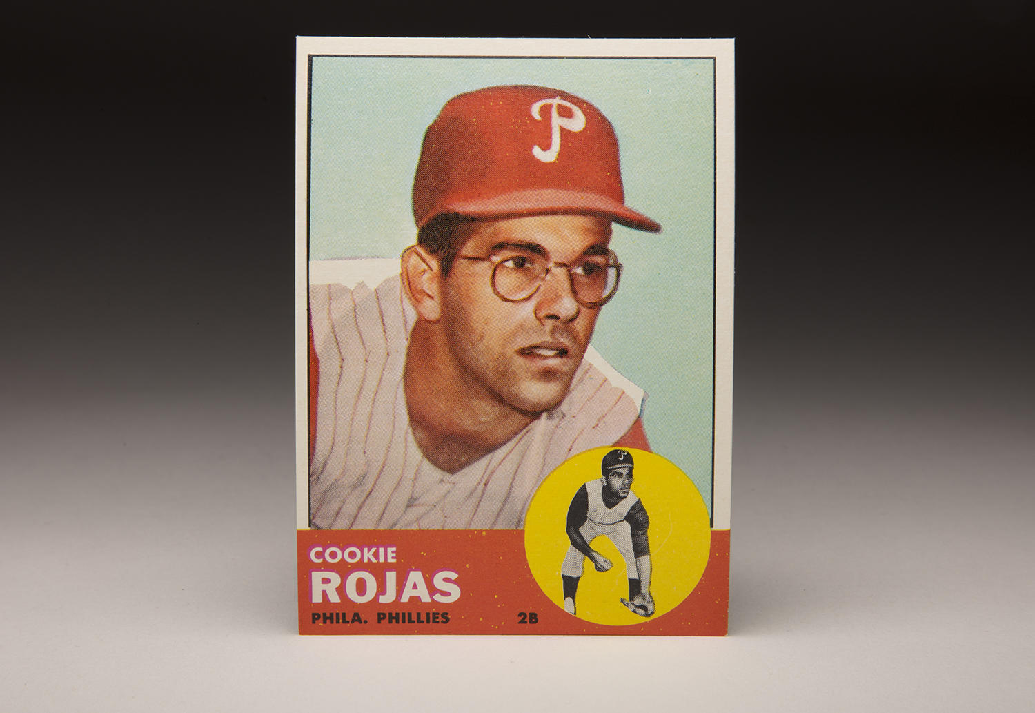 Cookie Rojas' 1963 rookie card, pictured above, provides an example of the vivid color photography that Topps produced throughout that set. (Milo Stewart Jr./National Baseball Hall of Fame and Museum)