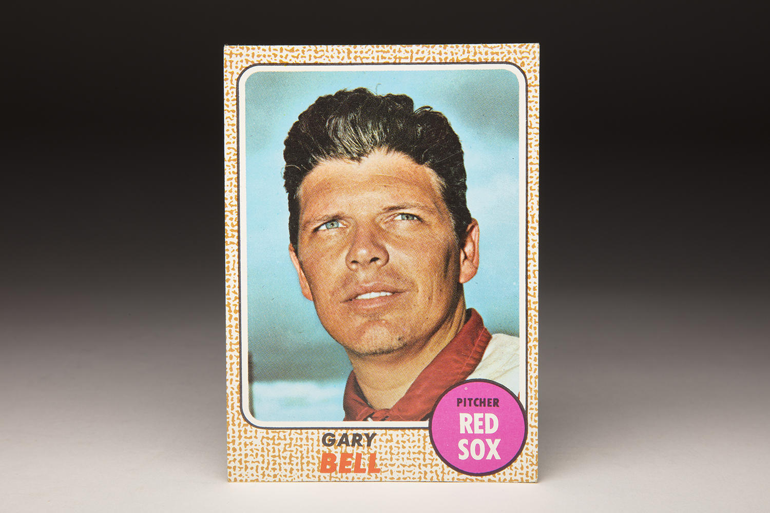 Gary Bell was depicted in a cap-less photo in the 1968 Topps set due to a dispute with the card maker. (Milo Stewart Jr./National Baseball Hall of Fame and Museum)
