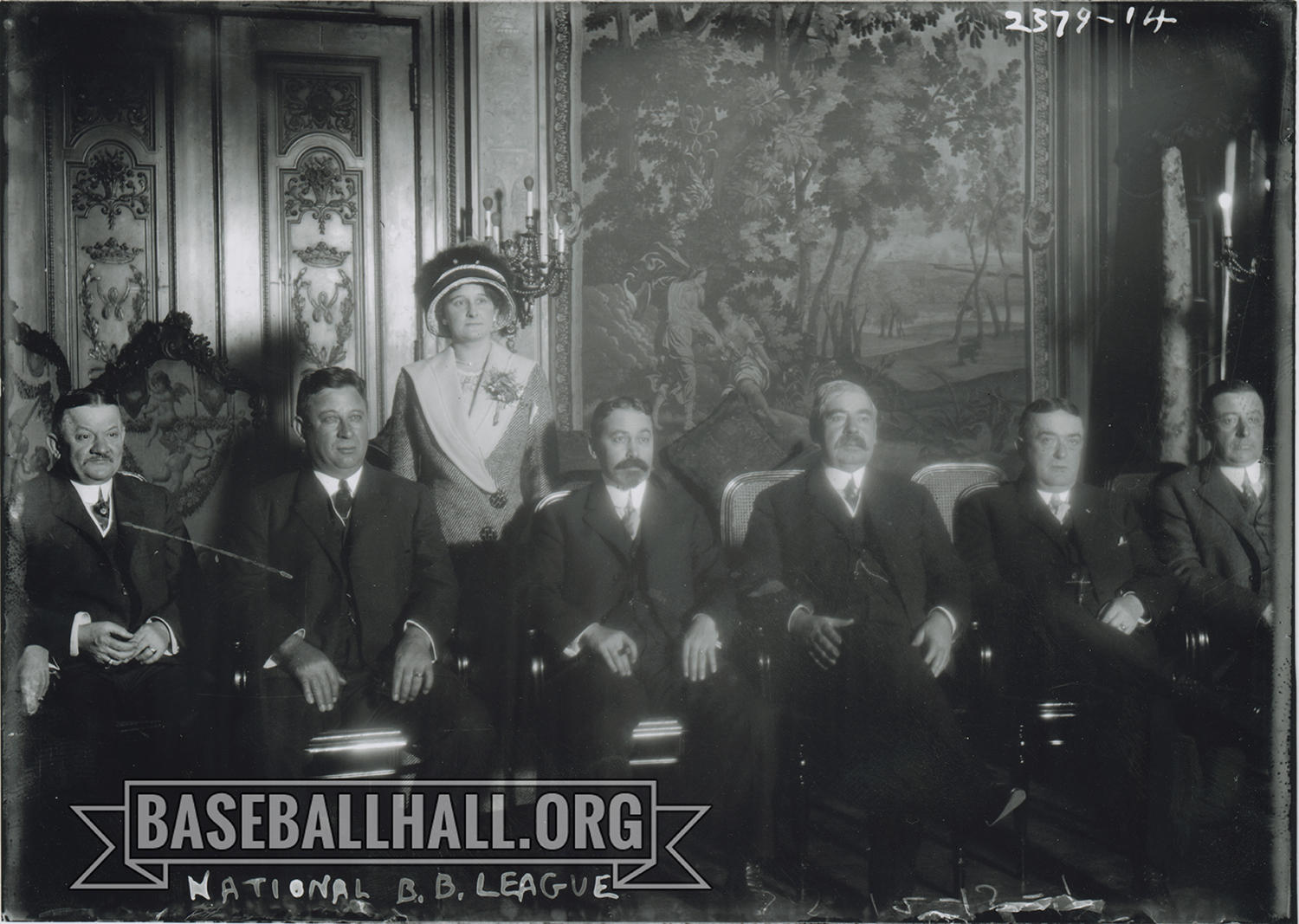 Helene Britton, pictured above with National League owners, was one of the first women to play an active part in the day-to-day operations of a baseball team. (National Baseball Hall of Fame and Museum)