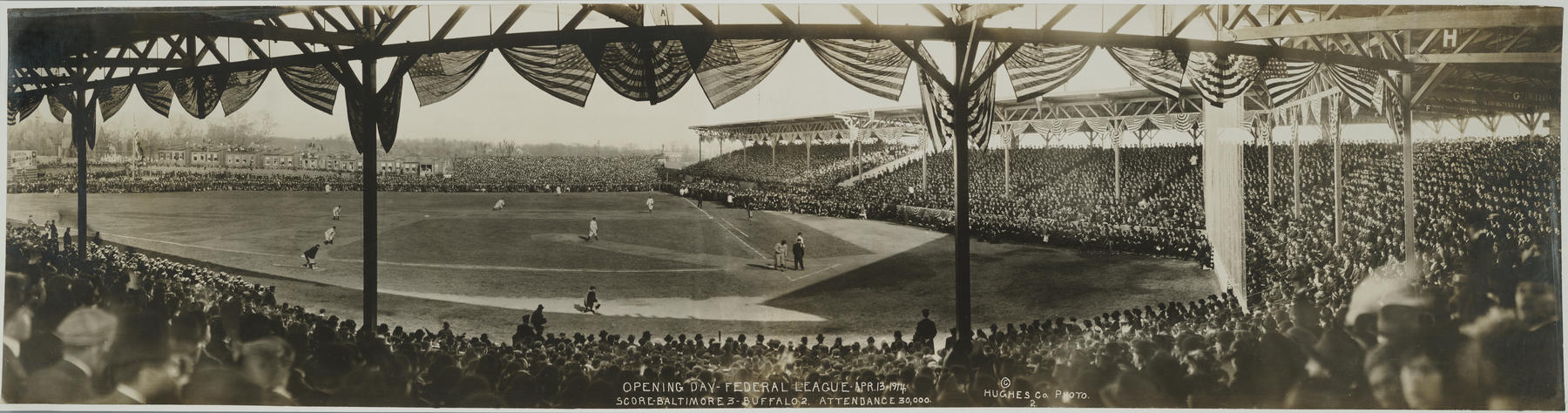 Baltimore's Terrapin Park, Opening Day of the Federal League, April 13, 1914 - BL-7389-85  (National Baseball Hall of Fame Library)