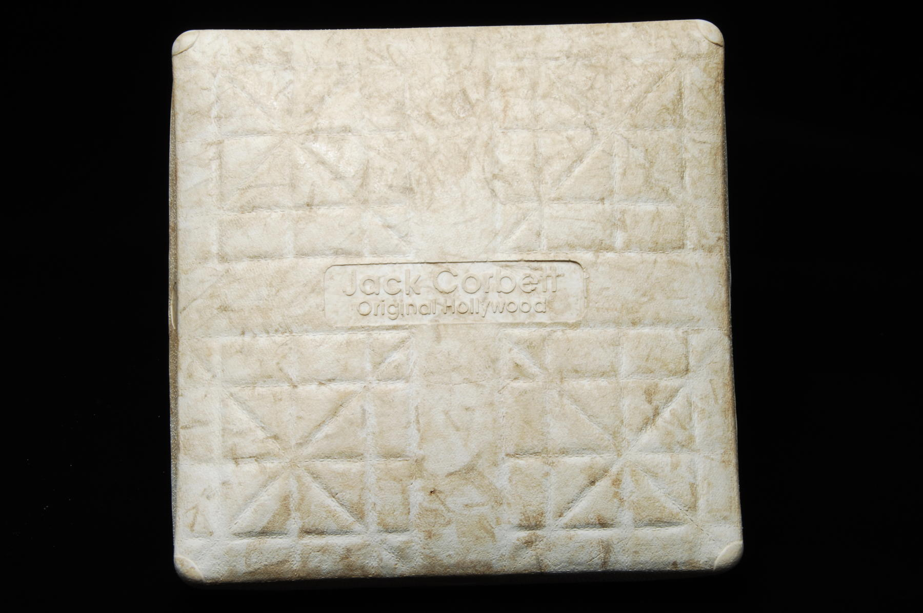 The first base from Anaheim Stadium, donated to the Museum after Kansas City Royals third baseman George Brett collected his 3,000th hit with a single on Sept. 30, 1992. (Milo Stewart, Jr. / National Baseball Hall of Fame)