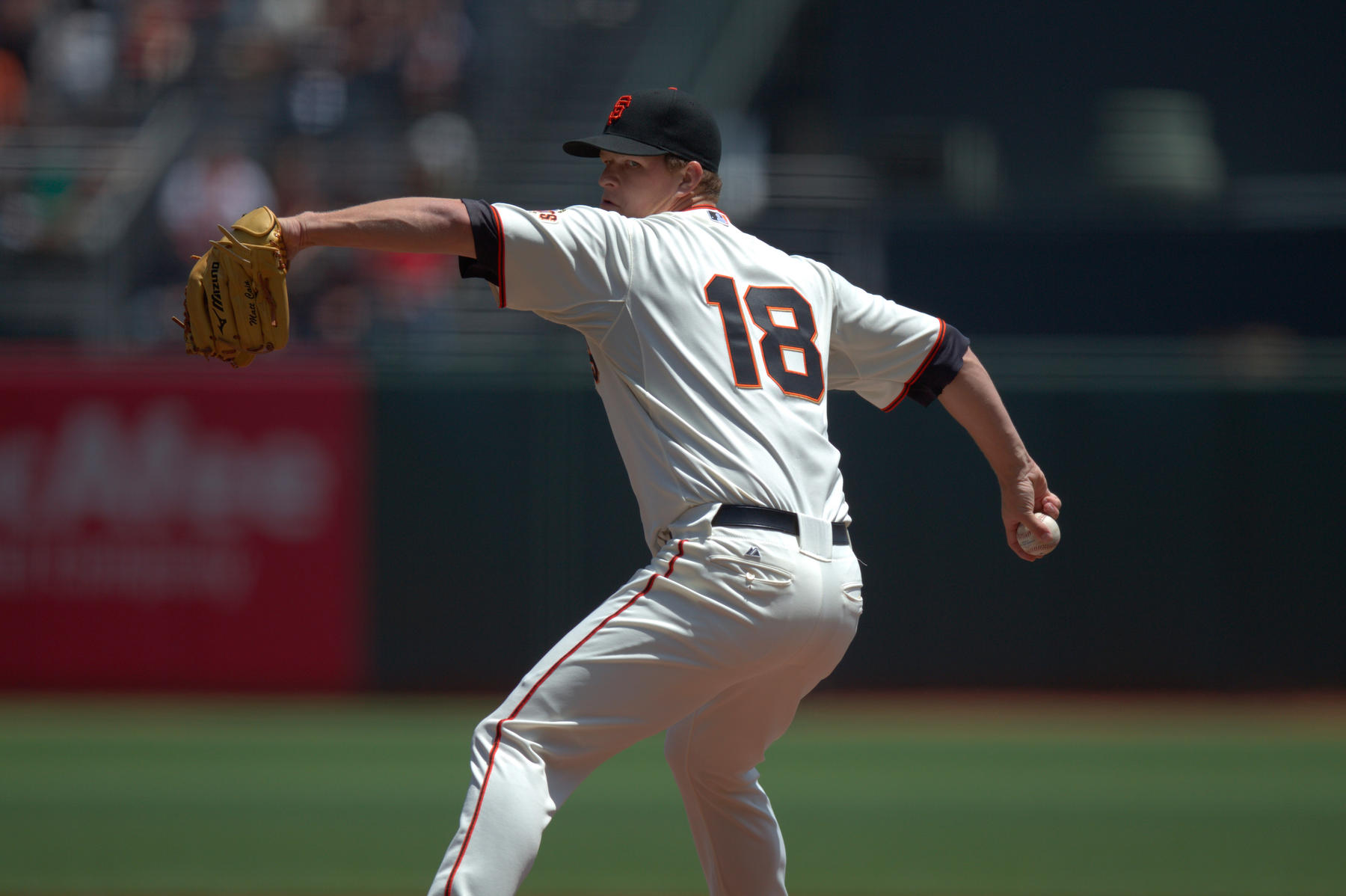 Matt Cain pitching in 2012. - BD8E1786 (Brad Mangin / National Baseball Hall of Fame and Museum)
