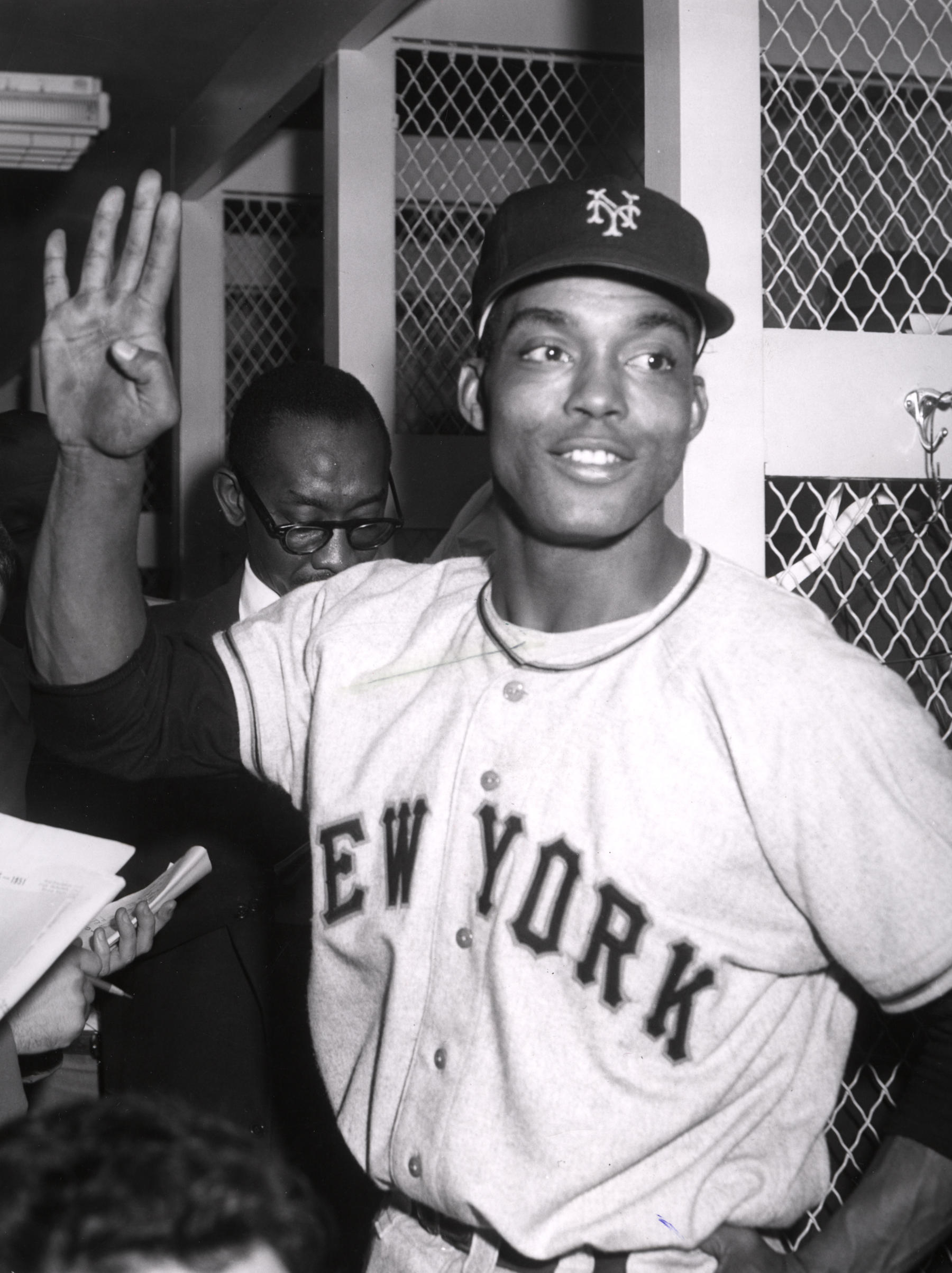 Monte Irvin, New York Giants - BL-2328-68WTr (National Baseball Hall of Fame Library)
