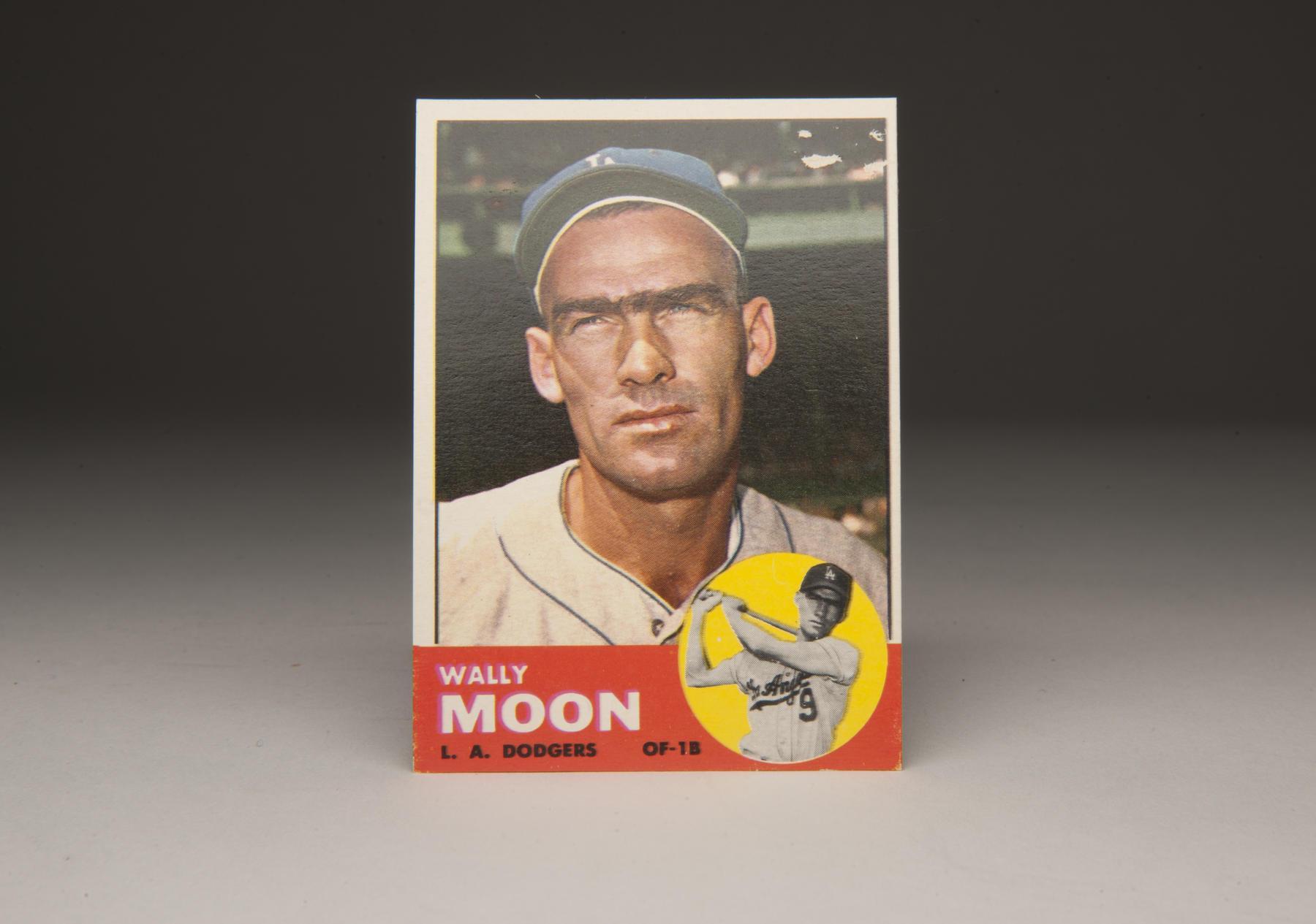 1963 Wally Moon Topps card. (Milo Stewart, Jr. / National Baseball Hall of Fame)