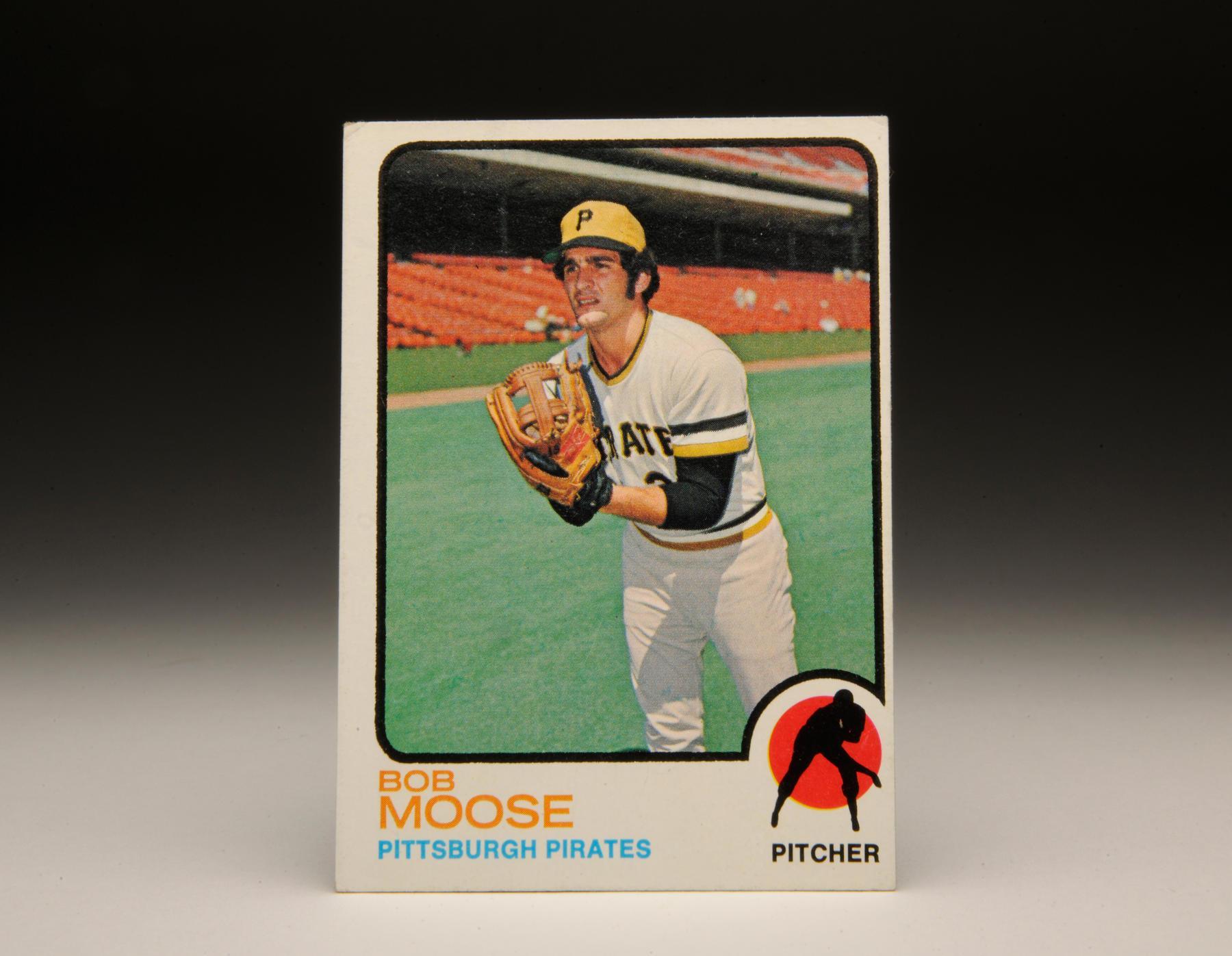 1973 Bob Moose Topps card. (Milo Stewart, Jr. / National Baseball Hall of Fame)