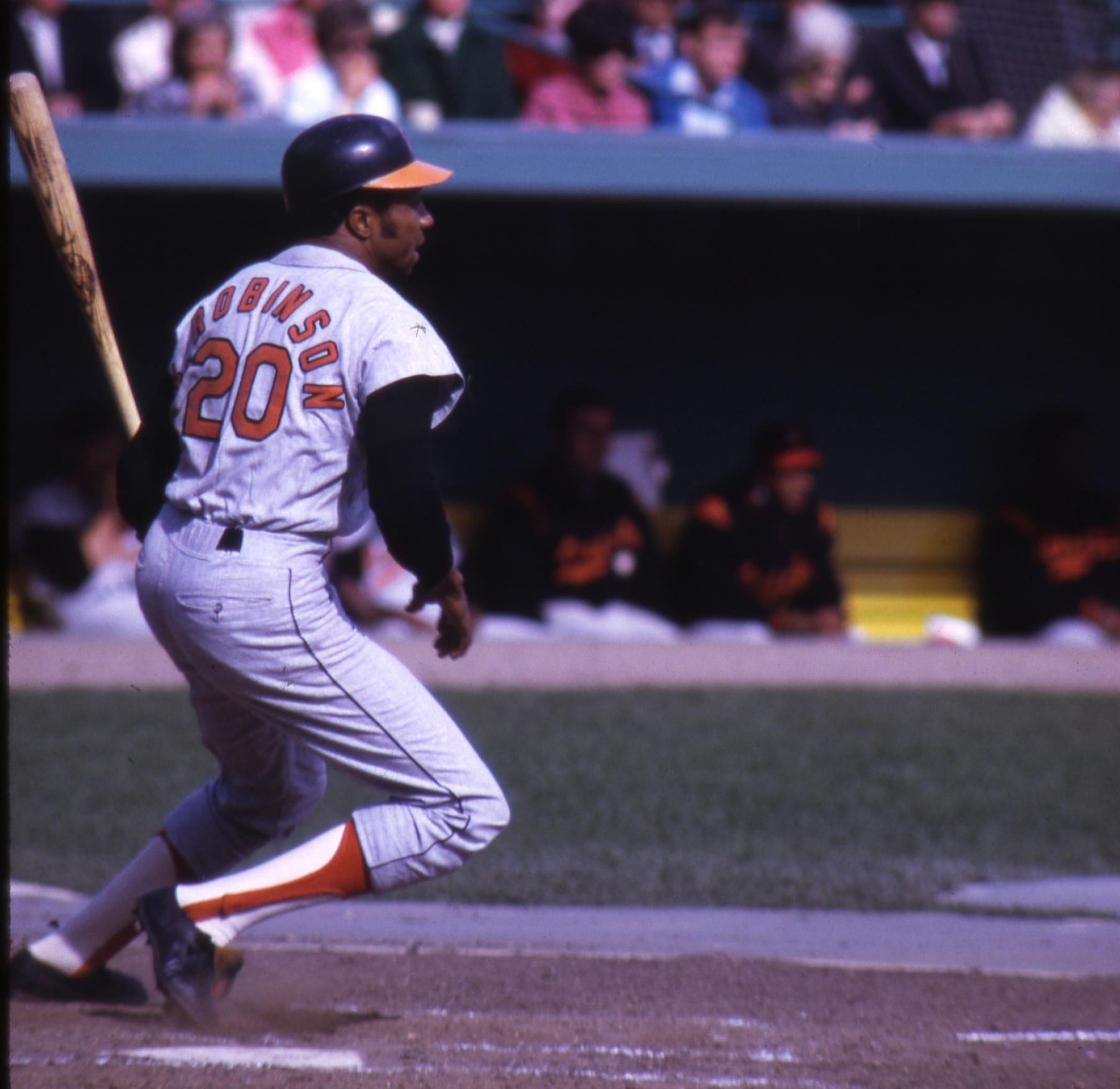 Frank Robinson led the Baltimore Orioles to two World Series titles and four American League pennants. BL-2062.93 (National Baseball Hall of Fame Library)
