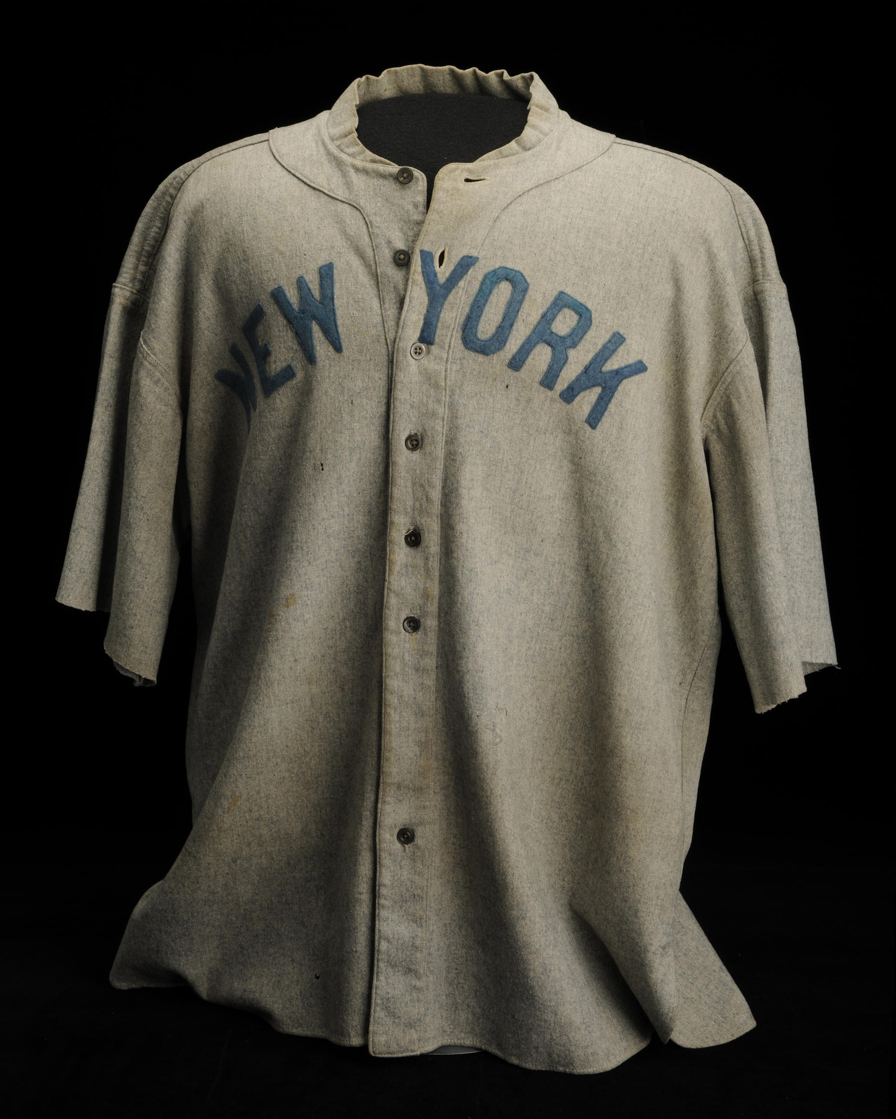 Jersey worn by Babe Ruth during the 1920 season. (Milo Stewart, Jr. / National Baseball Hall of Fame)
