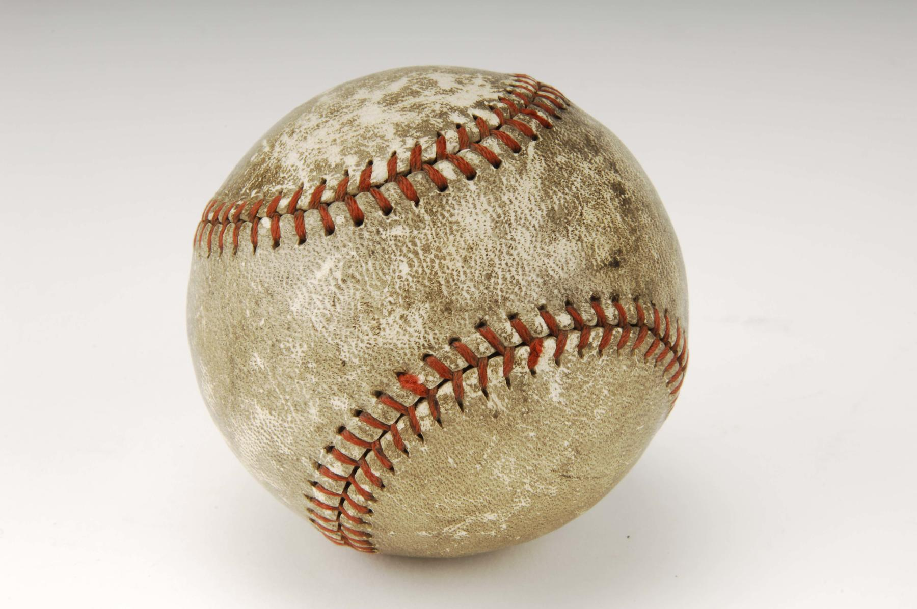 Ball hit by Babe Ruth for his 714th and final big league home run. B-16.48 (Milo Stewart Jr. / National Baseball Hall of Fame)