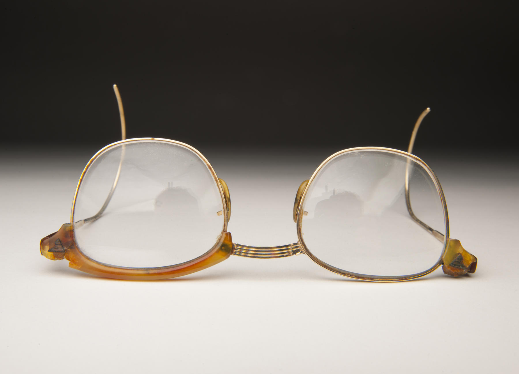 Frank Umont's glasses were donated to the National Baseball Hall of Fame and Museum by his daughter, Cathy Glennon. B-183.91 (Milo Stewart, Jr. / National Baseball Hall of Fame)