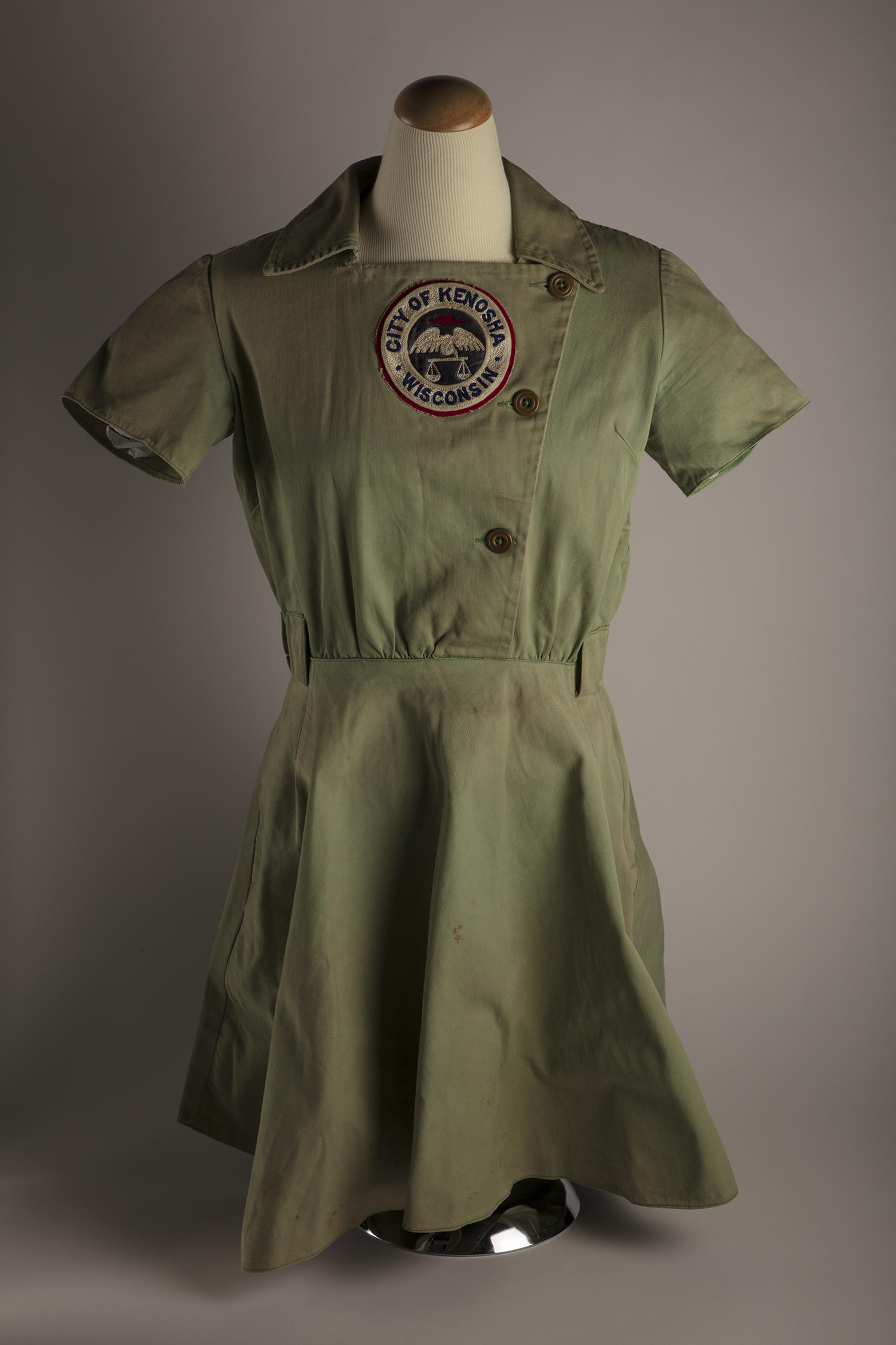 This Kenosha Comets uniform was worn by Audrey Wagner during her seven seasons with the team, from 1943-1949. (Milo Stewart Jr. / National Baseball Hall of Fame and Museum)