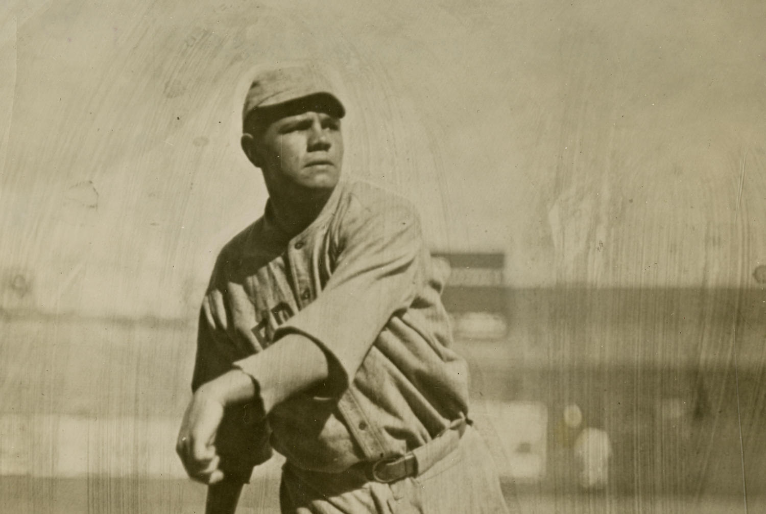 Babe Ruth led the Red Sox to a World Series title in 1916, where he pitched a 14-inning complete game in his postseason debut. (National Baseball Hall of Fame and Museum)