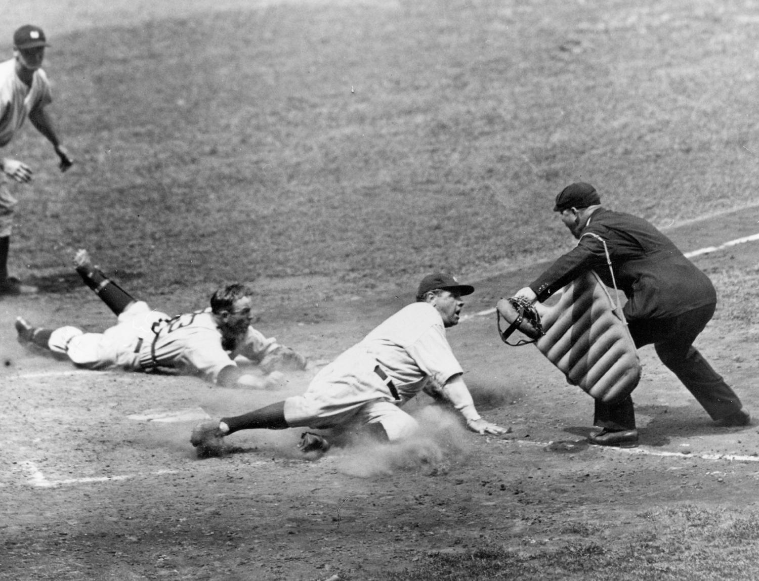 Ruth led the league in slugging percentage 13 times and in home runs 12 times during his career. (National Baseball Hall of Fame and Museum)