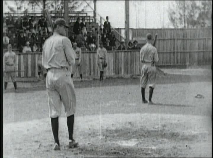 The earliest known footage of Babe Ruth shows him taking batting practice in Miami, Fla., 1920. (National Baseball Hall of Fame Library)