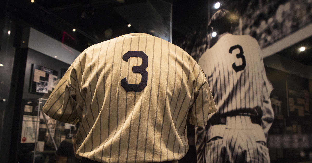 more photos 7b866 4f23f Historic Ruth jersey a part of Hall of Fame history ...