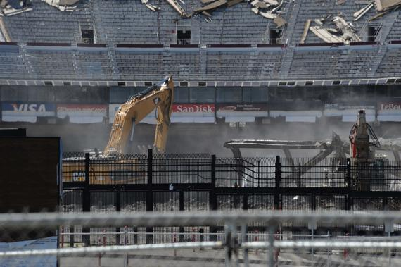 Since November of 2014, Candlestick park has been slowly demolished. ND3_5637 (Bob Busser / National Baseball Hall of Fame Library)