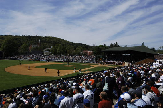 Fans watch as the Toronto Blue Jays play the Baltimore Orioles on May 21, 2007, at Doubleday Field. (Milo Stewart Jr./National Baseball Hall of Fame and Museum)