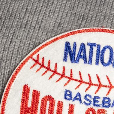 The felt patch is chain-stitched in the Baseball Centennial Celebration colors of 1939.