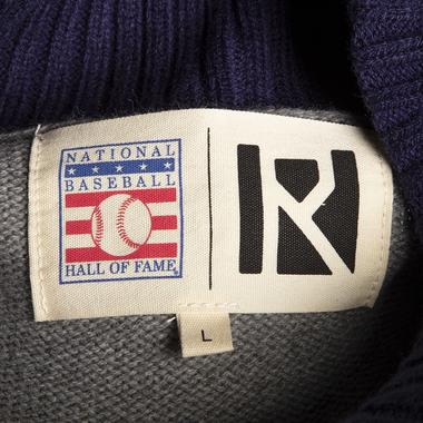 This exclusive cardigan sweater is crafted for Baseball Hall of Fame members in collaboration with Routine Baseball®.