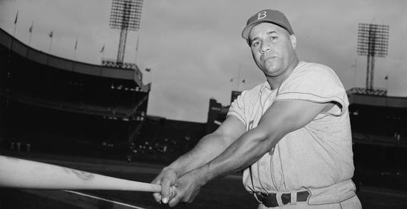 Roy Campanella played 10 seasons with the Brooklyn Dodgers, winning three NL MVP Awards along the way. (Osvaldo Salas/National Baseball Hall of Fame and Museum)