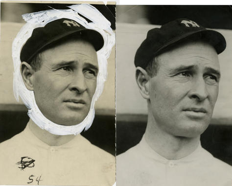 Before and After: A stabilized Charles Conlon photograph of Hall of Famer Frank Chance. BL-1476-68WT (Charles M. Conlon / National Baseball Hall of Fame Library)