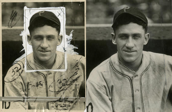 Before and After: A stabilized Charles Conlon photo of Hall of Famer Kiki Cuyler. BL-1516-68WT (Charles M. Conlon / National Baseball Hall of Fame Library)