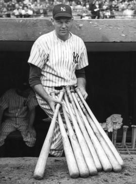 Bill Dickey was one of five future Hall of Famers in the Yankees' lineup for Game 4 of the 1938 World Series. (National Baseball Hall of Fame and Museum)