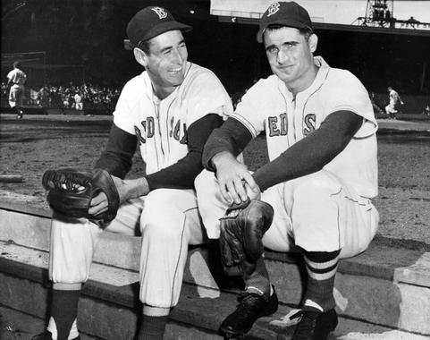 Hall of Famers Ted Williams and Bobby Doerr anchored the Boston Red Sox lineup together from 1939-1951. BL-1815-86 (Courtesy of Bobby Doerr / National Baseball Hall of Fame Library)