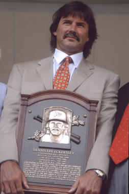 Dennis Eckersley was inducted to the National Baseball Hall of Fame in 2004. (National Baseball Hall of Fame and Museum)