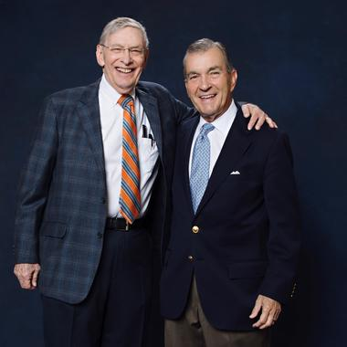 "John Schuerholz and Allan H. ""Bud"" Selig joined the Class of 2017 when they were elected to the National Baseball Hall of Fame by the Today's Game Era Committee. (Jean Fruth / National Baseball Hall of Fame)"