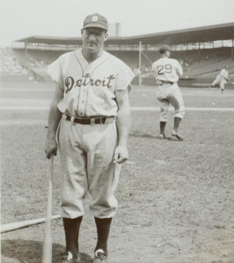 Goose Goslin played 18 seasons in the big leagues, leading the Senators to a World Series title in 1924 and the Tigers to a championship in 1935. (National Baseball Hall of Fame and Museum)