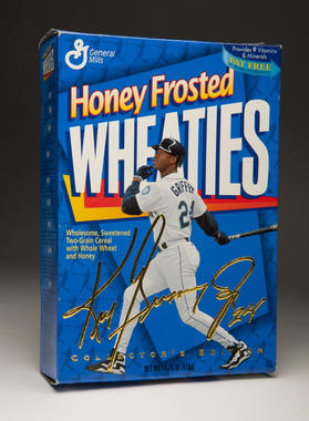 A box of Honey Frosted Wheaties cereal featuring Mariners slugger Ken Griffey Jr. B-172-96 (Milo Stewart, Jr. / National Baseball Hall of Fame)