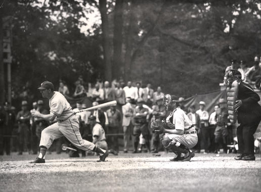 Future Hall of Famer Mel Ott photographed during his backswing. BL-3525.2000 (National Baseball Hall of Fame Library)