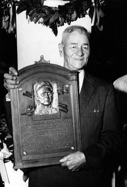 Zack Wheat was the only inductee in 1959, and became the 84th member of the Hall of Fame. (National Baseball Hall of Fame)