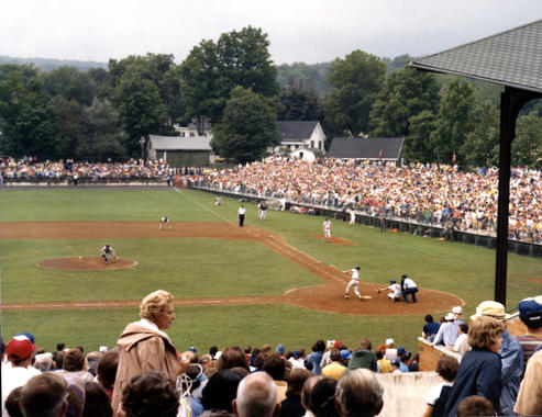 The Mets and the Tigers faced off in the Hall of Fame Game on Aug. 7, 1978. (National Baseball Hall of Fame and Museum)