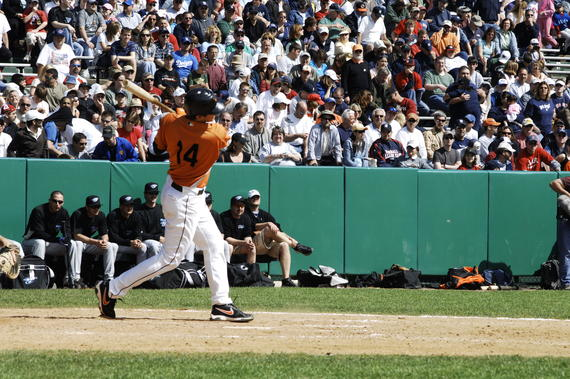 Orioles econd baseman Eider Torres swings away during the pregame Home Run Derby at the 2007 Hall of Fame Game. (Milo Stewart Jr./National Baseball Hall of Fame and Museum)