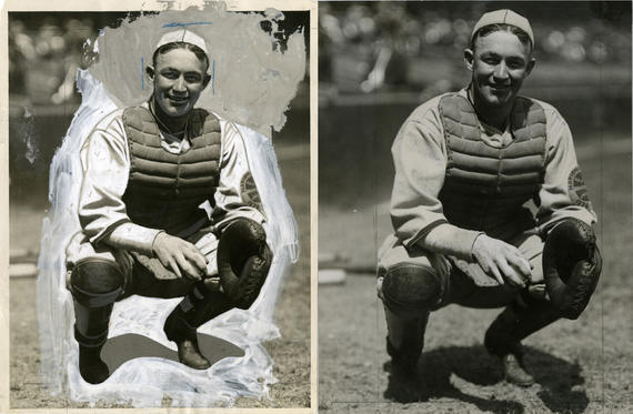 One small example of our recent preservation work -- a photograph of Gabby Hartnett. BL-1519-68WT (Charles M. Conlon / National Baseball Hall of Fame Library)